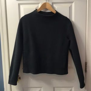 Mock French terry pullover